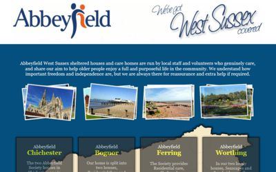 Abbeyfield West Sussex - website design from A Clear Web Worthing