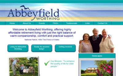 Abbeyfield Worthing - website design from A Clear Web Worthing