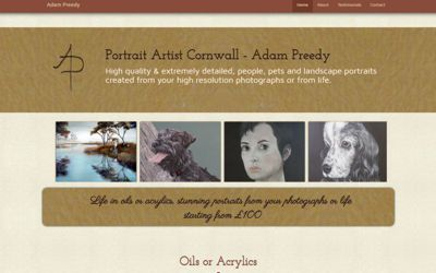 Adam Preedy | Portrait Artist Worthing - website design & SEO from A Clear Web Worthing