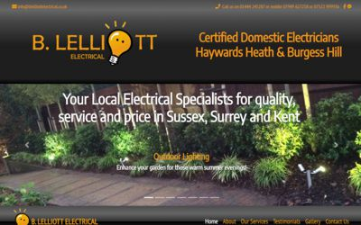 B Lelliott Electrical - website design from A Clear Web Worthing