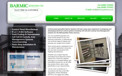 Barmic Systems Ltd - website design from A Clear Web Worthing