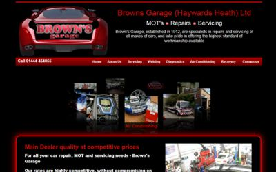 Browns Garage (Haywards Heath) Ltd - website design from A Clear Web Worthing