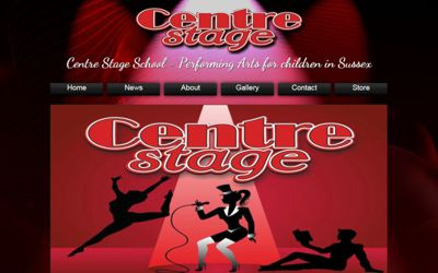 Centre Stage School Sussex - website design from A Clear Web Worthing