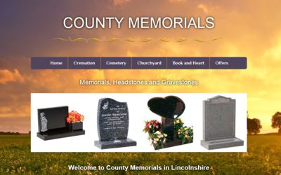 County Memorials - website design from A Clear Web Worthing