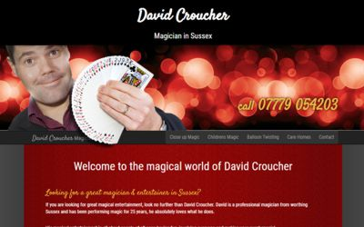 David Croucher Magician Sussex - website design from A Clear Web Worthing