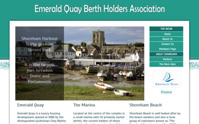 Emerald Quay Berth Holders Association - website design from A Clear Web Worthing