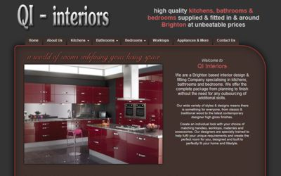 QI-Interiors -website design from A Clear Web Worthing