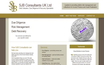 SJB Consultants UK Ltd - website design from A Clear Web Worthing