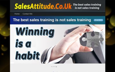 Sales Attitude - website design from A Clear Web Worthing
