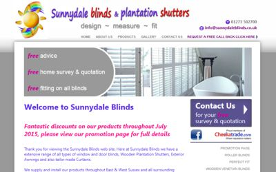 Sunnydale Blinds - website design from A Clear Web Worthing